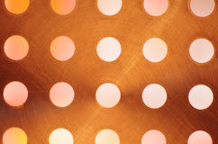 Scratched Metal Surface with Holes Stock Images