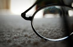 Scratched old glasses Royalty Free Stock Image