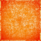 Scratched orange background. Abstract grunge scratched orange background royalty free illustration