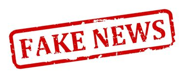 Scratched oval stamp with inscription - fake news Royalty Free Stock Photography