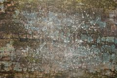 Scratched paint on wood Royalty Free Stock Images