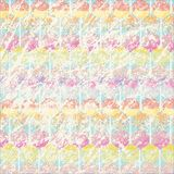 Scratched pastel background with candy pattern royalty free illustration