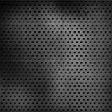 Scratched perforated metal background Royalty Free Stock Photos
