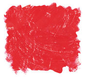 Scratched red brush strokes background Stock Images