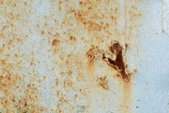 Scratched ripped metal plating, grunge background Stock Image