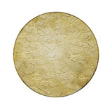 Scratched round metal plate texture Royalty Free Stock Photo