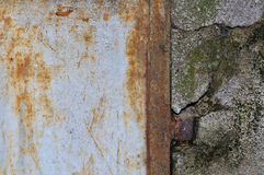 Scratched and rusted metal Stock Photo