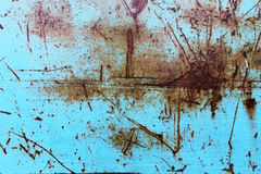 Scratched rusty blue surface Royalty Free Stock Images