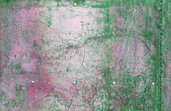 Scratched and rusty green metal surface Royalty Free Stock Photo