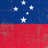 Scratched Samoa flag. 3d rendering of Samoa flag in a scratched surface Royalty Free Stock Photo