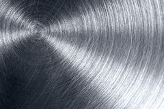 Scratched shiny metal plate Royalty Free Stock Photos