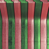 Scratched striped metal background Royalty Free Stock Image