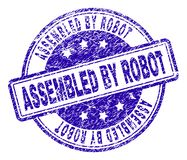 Scratched Textured ASSEMBLED BY ROBOT Stamp Seal stock illustration