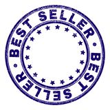 Scratched Textured BEST SELLER Round Stamp Seal royalty free illustration