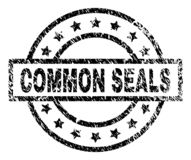 Scratched Textured COMMON SEALS Stamp Seal vector illustration