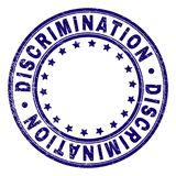 Scratched Textured DISCRIMINATION Round Stamp Seal stock illustration