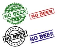 Scratched Textured NO BEER Seal Stamps royalty free illustration