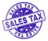 Scratched Textured SALES TAX Stamp Seal stock illustration