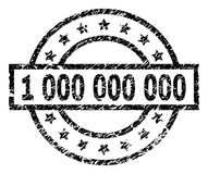 Scratched Textured 1 000 Stamp Seal. 1 000 stamp seal watermark with distress style. Designed with rectangle, circles and stars. Black rubber print of 1 000 tag vector illustration