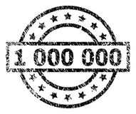 Scratched Textured 1 000 Stamp Seal. 1 000 stamp seal watermark with distress style. Designed with rectangle, circles and stars. Black  rubber print of 1 000 tag Royalty Free Stock Photos