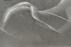 Scratched and Textured Steel. Stainless steel scratched and textured for effect Stock Photo
