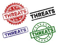 Threats Word Cut Out Letters Ransom Note Risk Danger