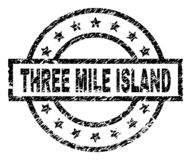 Scratched Textured THREE MILE ISLAND Stamp Seal royalty free illustration