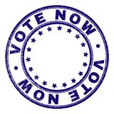 Scratched Textured VOTE NOW Round Stamp Seal stock illustration