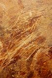 Scratched veneer surface. Royalty Free Stock Image