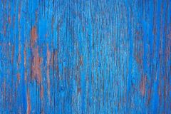 Scratched wall of wood. Wall of wood boards with scratched paint Stock Photo