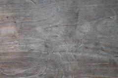 Scratched wood panel Stock Images
