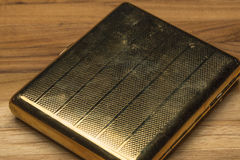 Scratched and Worn Old Fashioned Cigarette Case Royalty Free Stock Photos