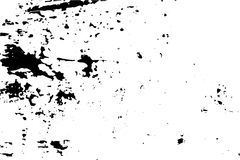 Scratched and worn surface  illustration. Distressed texture of old wood wall with paint stains. Black traced texture for vintage effect. Realistic old surface Royalty Free Stock Image