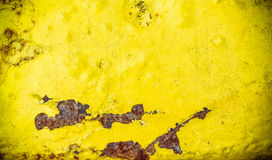 Scratched yellow metal texture Royalty Free Stock Photos