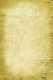 Scratched yellow wall background Stock Photography