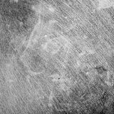 Scratches on the metal. Black and white background picture Stock Photography