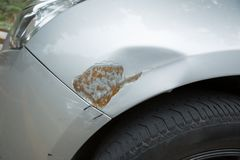 Scratches on car royalty free stock images