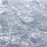 Ice background texture. Scratches on the surface of the ice. Skating rink Stock Photo