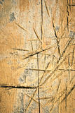 Scratches on wood Stock Images