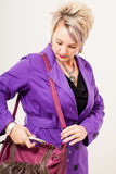 Scratching in my bag Royalty Free Stock Images