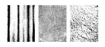Scratchy текстуры, абстрактные фоны Grunge Иллюстрации clipart вектора изолированные на белой предпосылке иллюстрация вектора