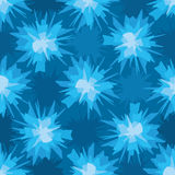 Scratchy blue blot seamless pattern Royalty Free Stock Images