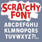 Scratchy funny font. Hand drawn vector ABC letters.Scratchy funny font font for your design Royalty Free Illustration
