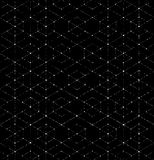 Scratchy Hexagon Seamless Pattern Stock Image