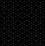 Scratchy Hexagon Seamless Pattern Stock Image
