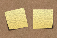 Scratchy Note paper on sand board stock image