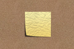 Scratchy Note paper on sand board royalty free stock photos