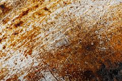 Scratchy old rusty metal. Background texture. Closeup royalty free stock photo