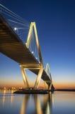 查尔斯顿SC亚瑟Ravenel Jr.在南卡罗来纳的吊桥 图库摄影
