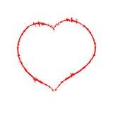 Scrawled Heart Royalty Free Stock Photo